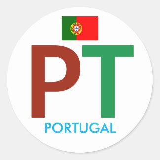 Bunter Rundschreiben-Aufkleber Portugals Pint Runder Aufkleber