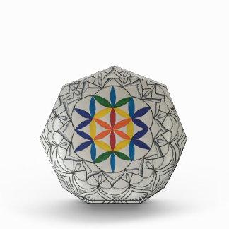 Bunter Samen der Leben-Mandala Acryl Auszeichnung