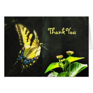 Bunter Schmetterling danken Ihnen zu kardieren Karte