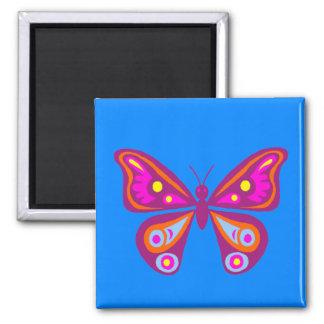 Bunter Schmetterlings-Quadrat-Magnet Quadratischer Magnet