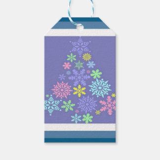 Bunter Schneeflocke-Weihnachtsbaum Geschenkanhänger