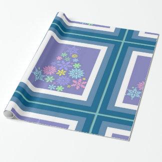Bunter Schneeflocke-Weihnachtsbaum Geschenkpapier