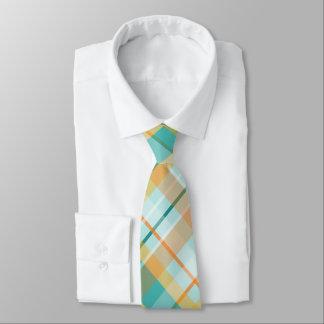 bunter Sommer des Türkisgoldaquamarinen Pfirsiches Krawatte