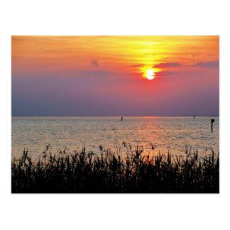 Bunter Sonnenuntergang bei Bodensee - Postkarte