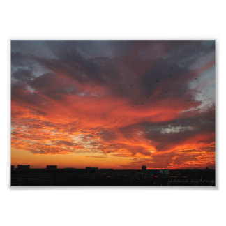 Bunter Sonnenuntergang Fotodruck