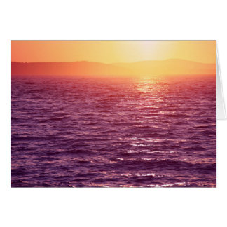 Bunter Sonnenuntergang Karte