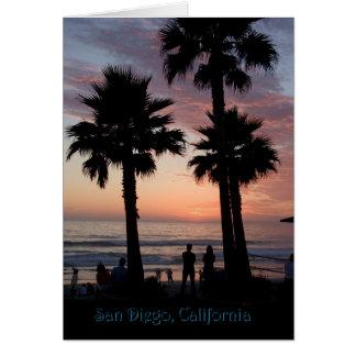 Bunter Sonnenuntergang, San Diego, CA Karte
