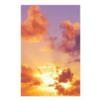 Bunter Sonnenuntergang, Sonnenstrahlen, Oregon Flyers
