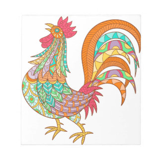 bunter Spaß der Kükenhahnvogelentwurfs-Kunst cool Notizblock
