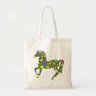 Bunter Spaß der Pferdetänzelnder funky Budget Stoffbeutel