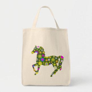 Bunter Spaß der Pferdetänzelnder funky Einkaufstasche
