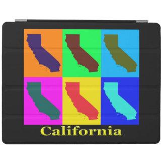 Bunter Staat der Kalifornien-Pop-Kunst-Karte iPad Hülle