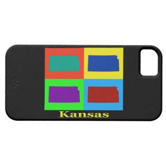 Bunter Staat der Kansas-Pop-Kunst-Karte iPhone 5 Cover