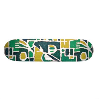 Bunter Stammes- abstrakter Muster-Druck 19,7 Cm Skateboard Deck