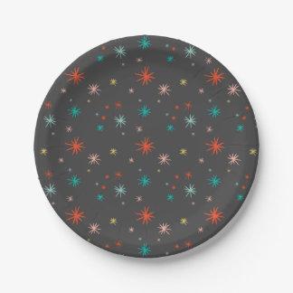 Bunter Sternexplosion-neues Pappteller