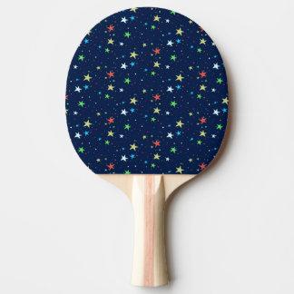 Bunter Sternhimmel Tischtennis Schläger