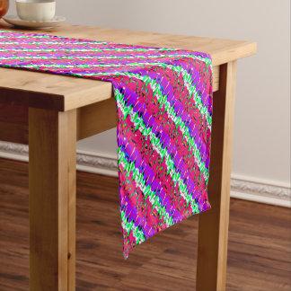 Bunter Störschub-Muster-Entwurf Kurzer Tischläufer