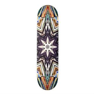 Bunter strukturierter Stern 19,1 Cm Old School Skateboard Deck