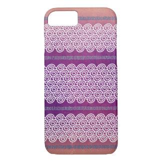 Bunter strukturierter violetter iPhone 7 hülle