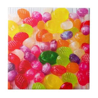 Bunter süßer Süßigkeits-Nahrungsmittellutscher Kleine Quadratische Fliese