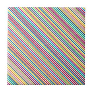 Bunter Süßigkeits-Streifen-Entwurf Kachel