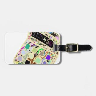 bunter Taschenrechner Kofferanhänger