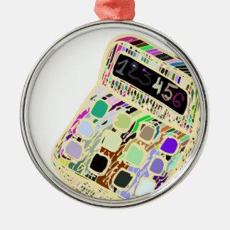 bunter Taschenrechner Silbernes Ornament