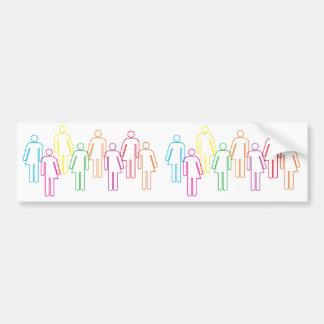 Bunter Transgender-Diversityaufkleber Autoaufkleber