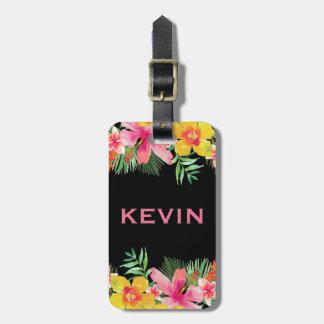 Bunter tropischer Blumen-Blumenstrauß Gepäckanhänger