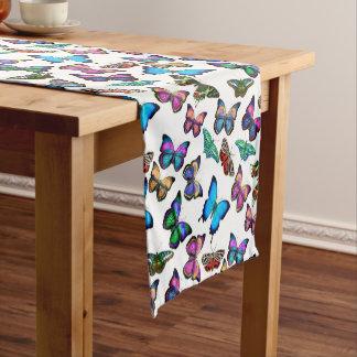 Bunter tropischer Schmetterlings-Tabellen-Läufer Kurzer Tischläufer