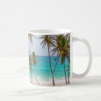 Bunter tropischer Strand Kaffeetasse