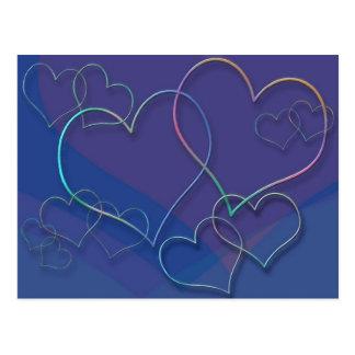 Bunter Valentine-Schatz-Liebe-Designer Postkarte