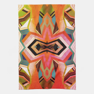 Bunter Vintager geometrischer Vibes Handtuch