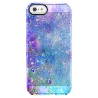 Bunter Weltraum-abstrakter Hintergrund Durchsichtige iPhone SE/5/5s Hülle