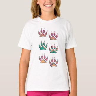 Bunter Wolf-Druck T-Shirt