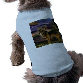 Bunter Wolf im Wald T-Shirt