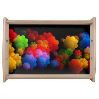 Bunter Wolken-Behälter Tablett