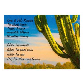 Bunter Wüsten-Kaktus-Menü-Empfang Karte