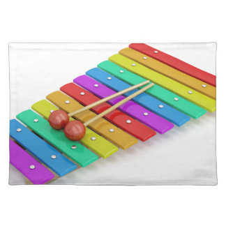 Bunter Xylophone Stofftischset