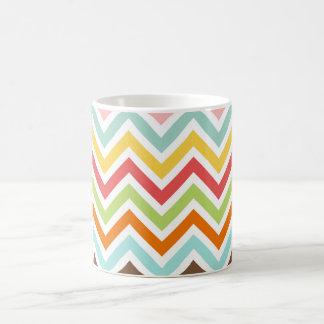 Bunter Zickzack Zickzack Stripes Muster Kaffeetasse