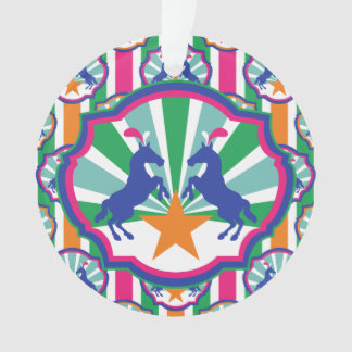 Bunter Zirkus-Show-Pony-Feiertag personalisiert Ornament