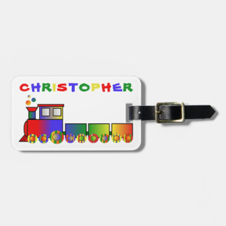 Bunter Zug personalisiert Kofferanhänger