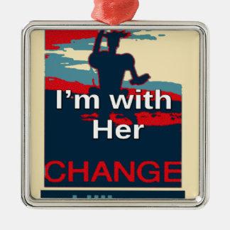 Buntes 2016 bin ich mit ihrer Abstimmung für Silbernes Ornament