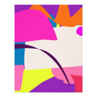 Buntes abstraktes Bild Bedruckte Flyer