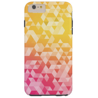 Buntes abstraktes Dreieck-Muster Tough iPhone 6 Plus Hülle