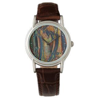 Buntes abstraktes eines Tigerauges Armbanduhr