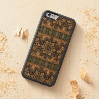 Buntes abstraktes ethnisches Blumenmandalamuster Bumper iPhone 6 Hülle Kirsche