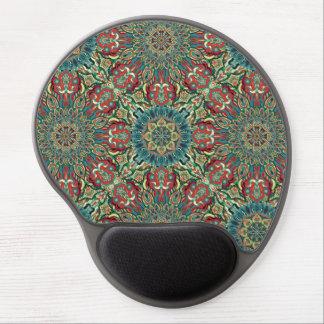 Buntes abstraktes ethnisches Blumenmandalamuster Gel Mousepad