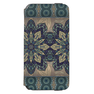 Buntes abstraktes ethnisches Blumenmandalamuster Incipio Watson™ iPhone 6 Geldbörsen Hülle
