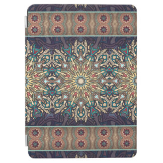 Buntes abstraktes ethnisches Blumenmandalamuster iPad Air Hülle
